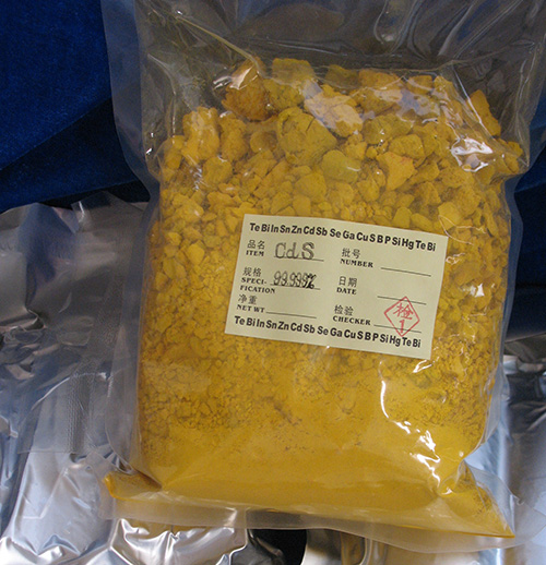 High purity cadmium sulfide